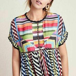 ANTHROPOLOGIE Kynsa Tunic by Conditions Apply HARD